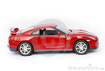 Dark Red Sport Car Model. Stock Photo - Image: 12101470