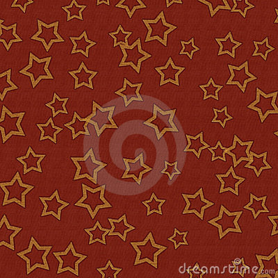 Dark Red Textured Background With Gold Stars