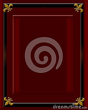 Dark red velvet frame