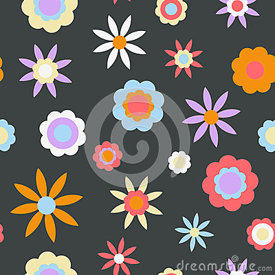 Dark Retro Flower Background