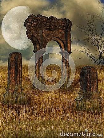 Free Dark Ruin Stock Images - 7632634