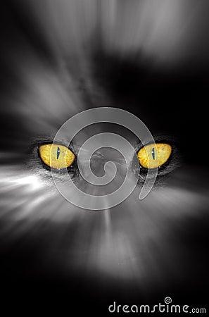 Dark scary eyes stock photo image 43819536 - Scary yellow eyes ...
