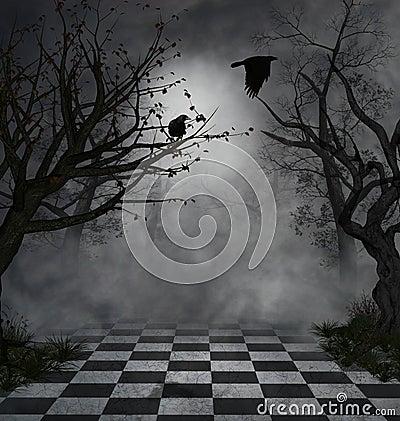 Dark scene