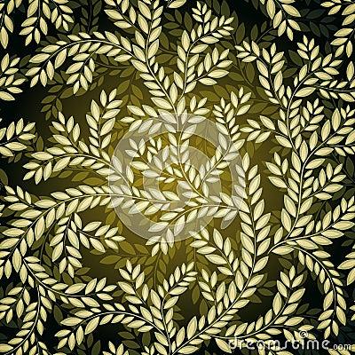 Dark Seamless floral Pattern.