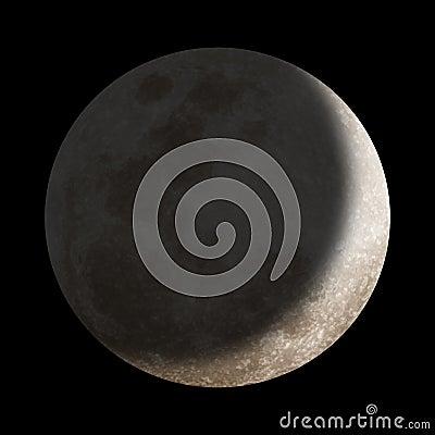 Dark shadow over moon