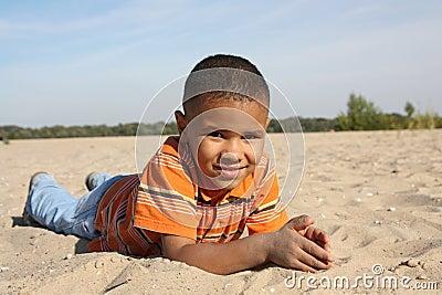 Dark-skinned boy