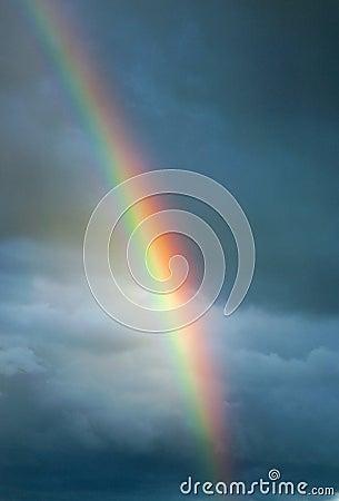 Free Dark Sky Rainbow Royalty Free Stock Photography - 94974077
