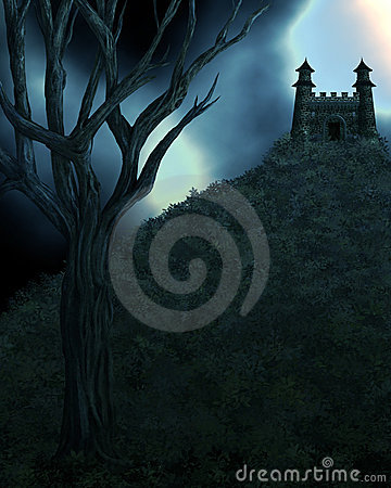 Dark Spooky Fairytale Background