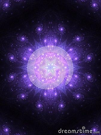 Free Dark Star-shaped Fractal Mandala Stock Images - 90350804