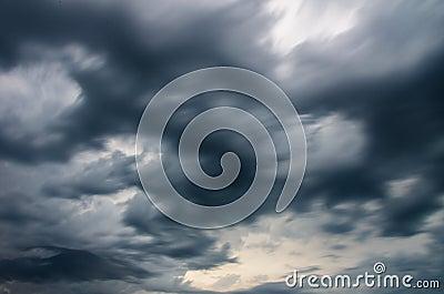 Dark storm clouds