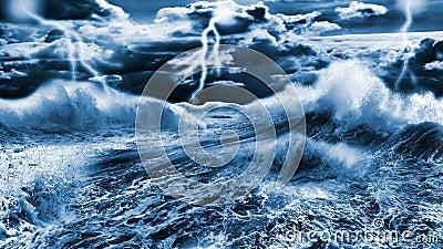 Dark stormy sea