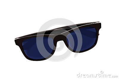 Dark Sunglasses Isolated