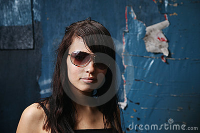 Dark teen portrait