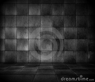 Dark Tiled Room