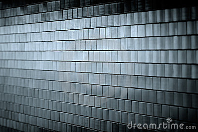 Dark Tiled Wall