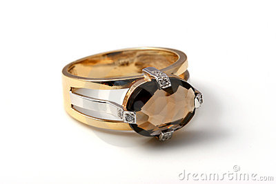 Dark topaz ring