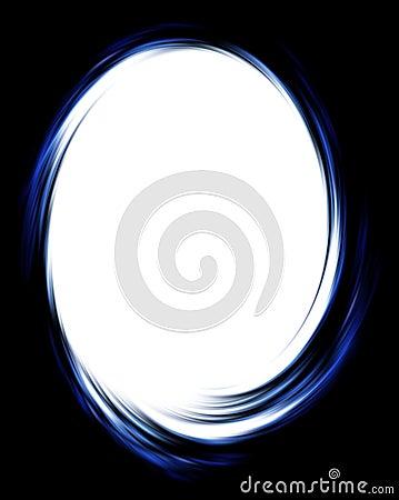 Dark twirl frame