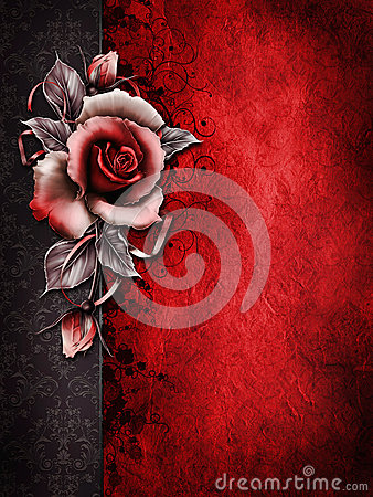 Free Dark Valentine Background With A Rose Stock Photos - 28417933