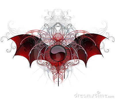 Dark vampire banner on a white background