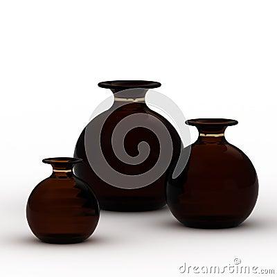 Dark vases