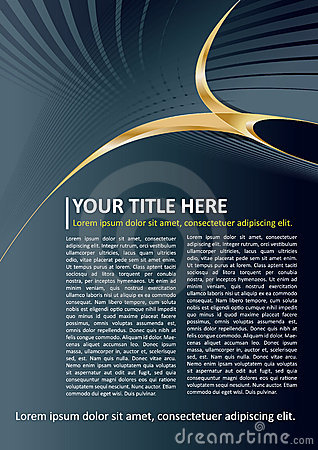 Free Dark Vector Brochure And Poster Background Stock Photography - 23193462