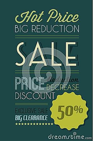 Dark Vector grunge retro sale background