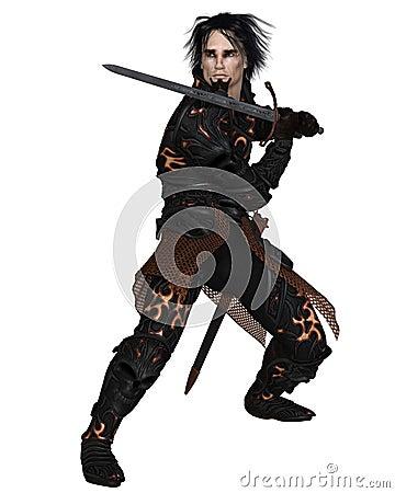 Dark Warrior holding a Sword