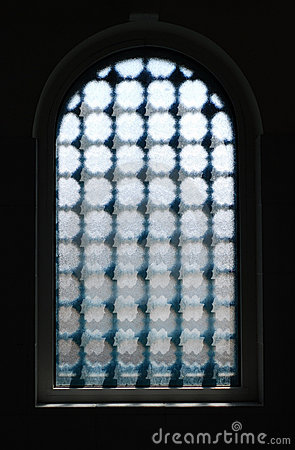 Dark Window with textured glass