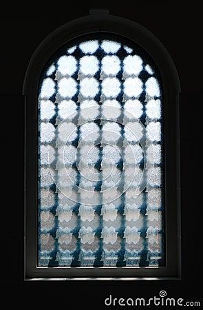 Dark Window With Textured Glass Stock Photos - Image: 8657423