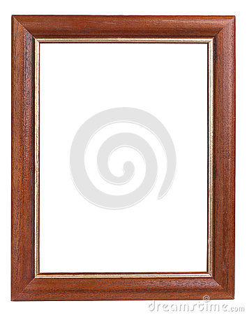 Dark Wooden Picture Frame Royalty Free Stock Photography ...