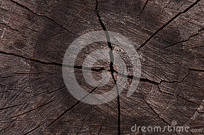 Darkened wood cut as abstract background
