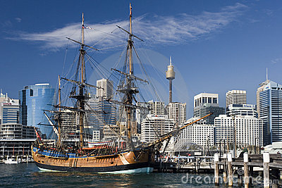 Darling Harbor - Sydney - Australia Editorial Stock Photo