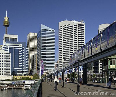 Darling Harbor - Sydney - Australia Editorial Stock Image