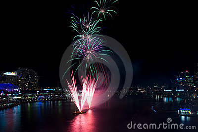 Darling Harbour 21st Birthday Fireworks Editorial Photo