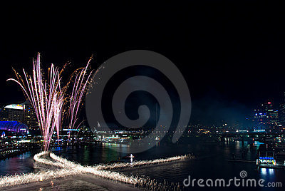 Darling Harbour 21st Birthday Fireworks Editorial Stock Photo