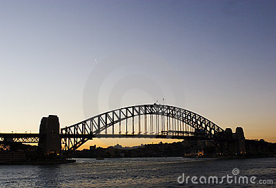Darling Harbour Bridge in Sydney Editorial Image