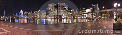 Darling harbour panorama Editorial Photo