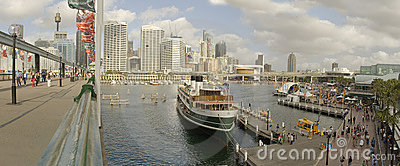 Darling Harbour panorama Editorial Stock Image
