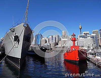 Darling Harbour - ships, Sydney, Australia