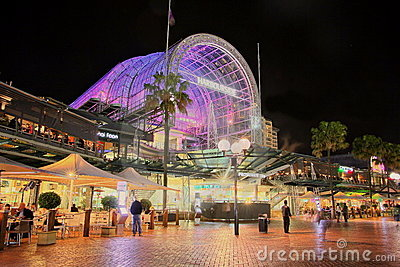 Darling Harbour shopping centre, HDR Editorial Stock Photo