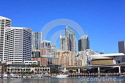 Darling Harbour Eastern side Editorial Photo