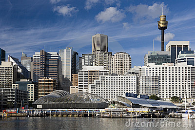 Darling Harbour - Sydney - Australia Editorial Stock Photo