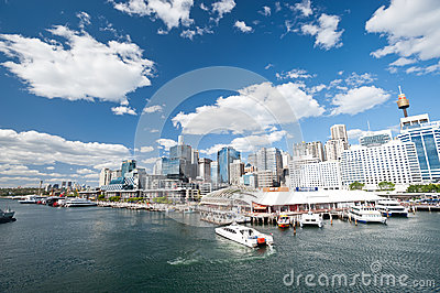 Darling Harbour in Sydney, Australia. Editorial Photography