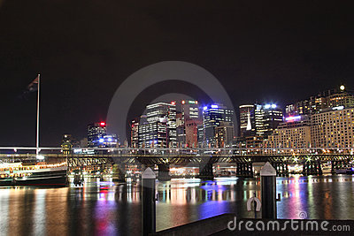 Darling Harbour Cockle Bay at night
