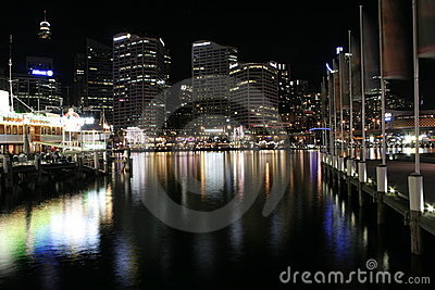 Darling Harbour Waterfront, Sydney Editorial Stock Image