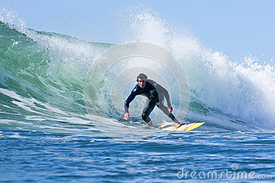 Darshan Gooch surfing in Santa Cruz, California Editorial Photography