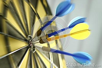 Dart board with dart