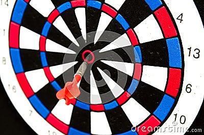 Dart on the bullseye