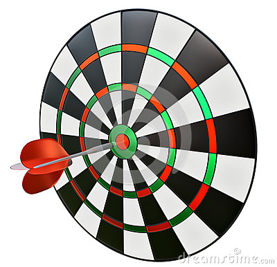 Dart in the centre of darts