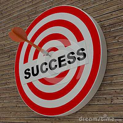 Free Dart Hitting Success Center Target On Dartboard Stock Images - 33787704
